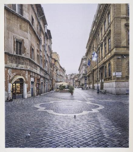 Piazza delle Cinque Scole. 30 x 26. 2015