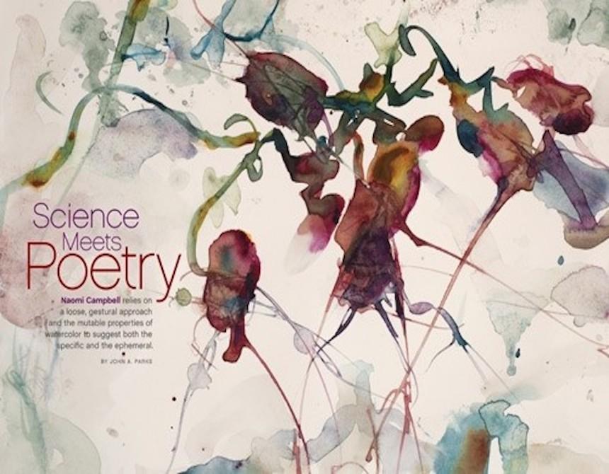 Naomi Campbell in <i>Watercolor Artist</i> Magazine
