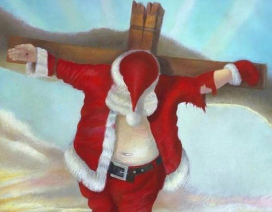 Robert Cenedella Crucified Santa