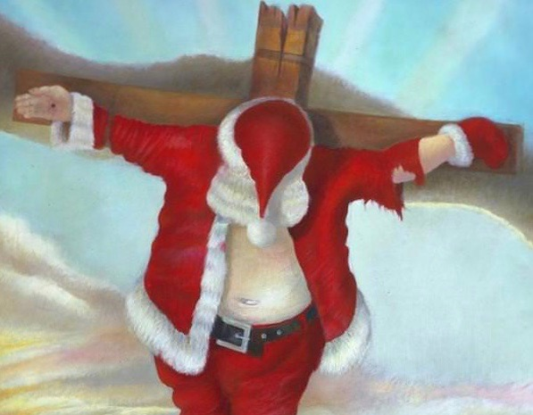 Robert Cenedella Crucified Santa