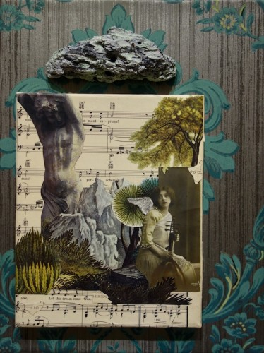Mixed media work by Gail Meyers