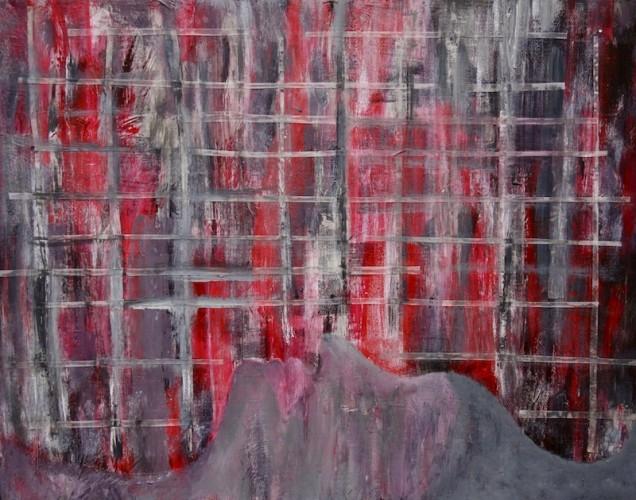 Mixed media work by Sylvia Martinez