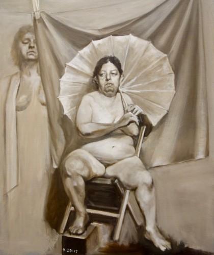 Painting by Myung-Ja Chun
