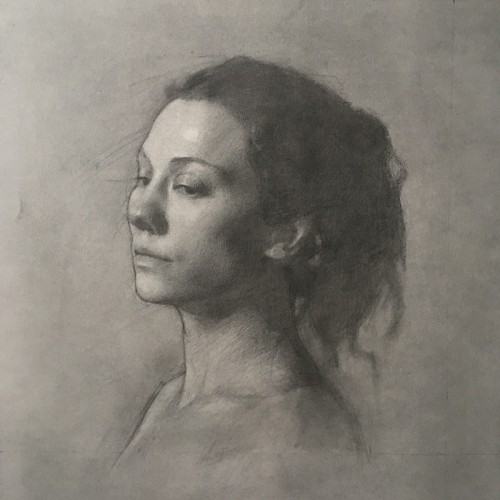 Nadine 12x12 Graphite and Charcoal on Paper