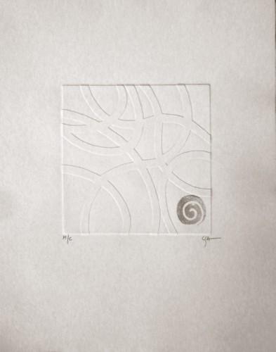 1. Cathryn Aison, etching
