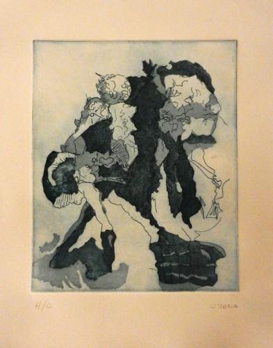 11. Carlos Doria, etching aquatint