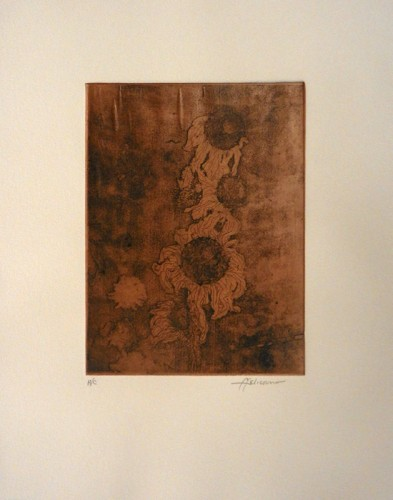 13. Francisco Feliciano, etching with chine-colle
