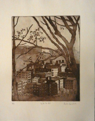 23. Andrea Kornbluth, etching aquatint