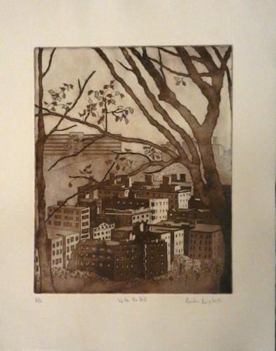 23. Andrea Kornbluth, etching aquatint
