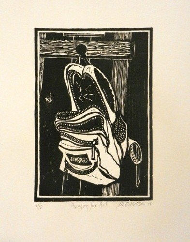 36. Michael Pellettieri, woodcut