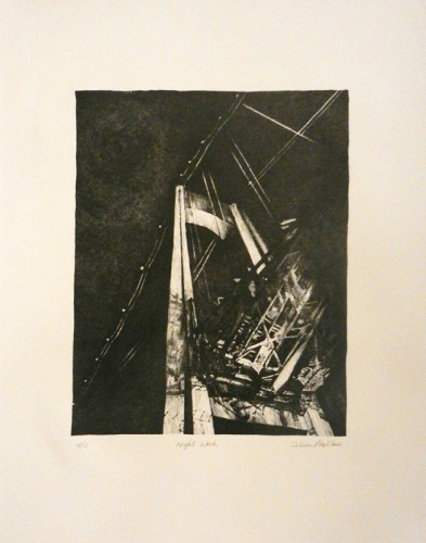 37. Colleen Pike-Blair, stone lithograph
