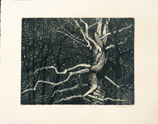 4. Bill Behnken, etching aquatint