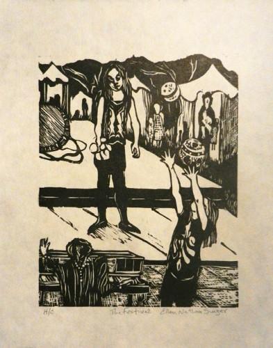 42. Ellen Singer, woodcut