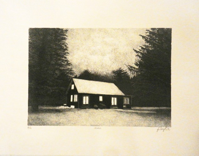 44. Jessie Taylor, stone lithograph