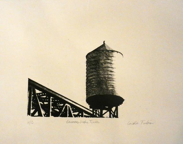 45. Carole Turbin, stone lithograph