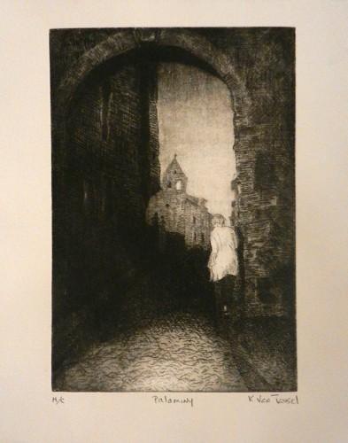 47. Kirk Van Tassel, etching