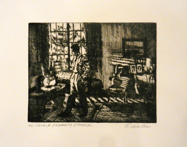 48. Steve Walker, etching