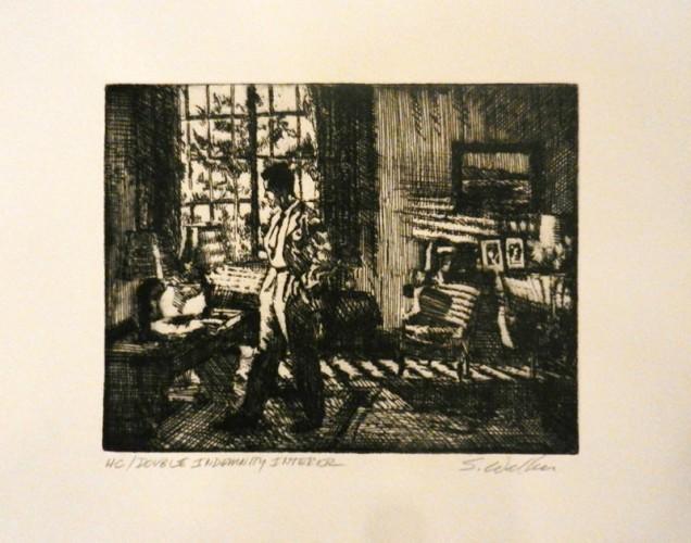 48. Steve Walker, etching