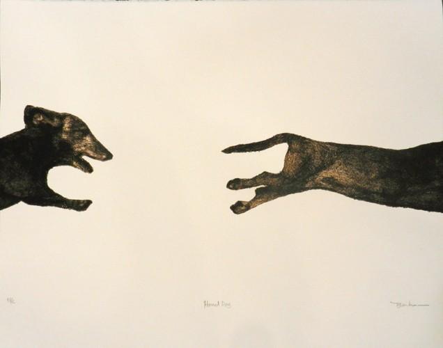 5. Brenda Berkman, stone lithograph