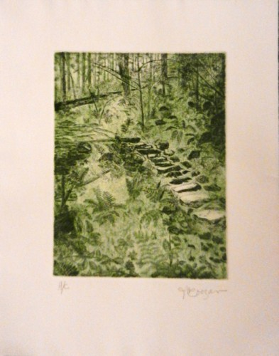 8. Jeanne M Coogan, etching