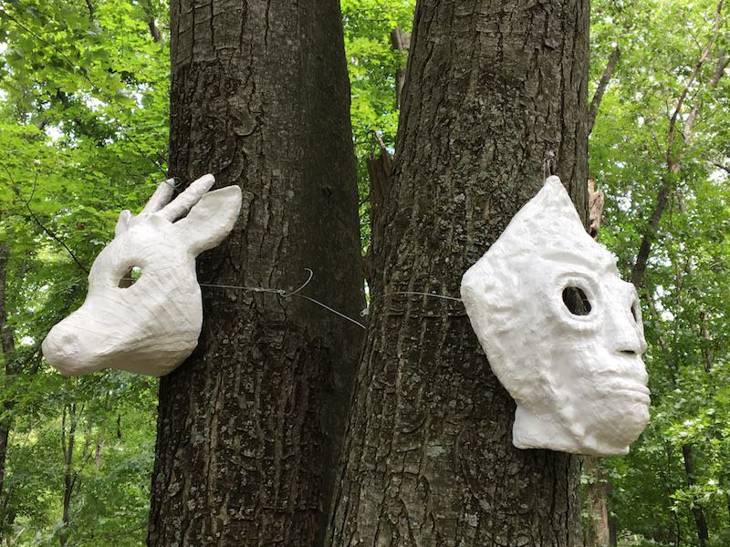 Anne Stanner Masks on View in Garrison, New York