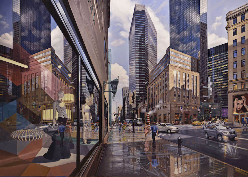 Robert Neffson, 57th and 5th Ave.  Oil, 56 x 79 in.
