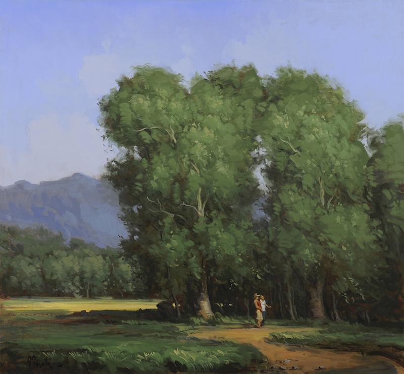 Thomas Torak, A Morning Walk, 2011. Oil on linen, 32 x 30 in.