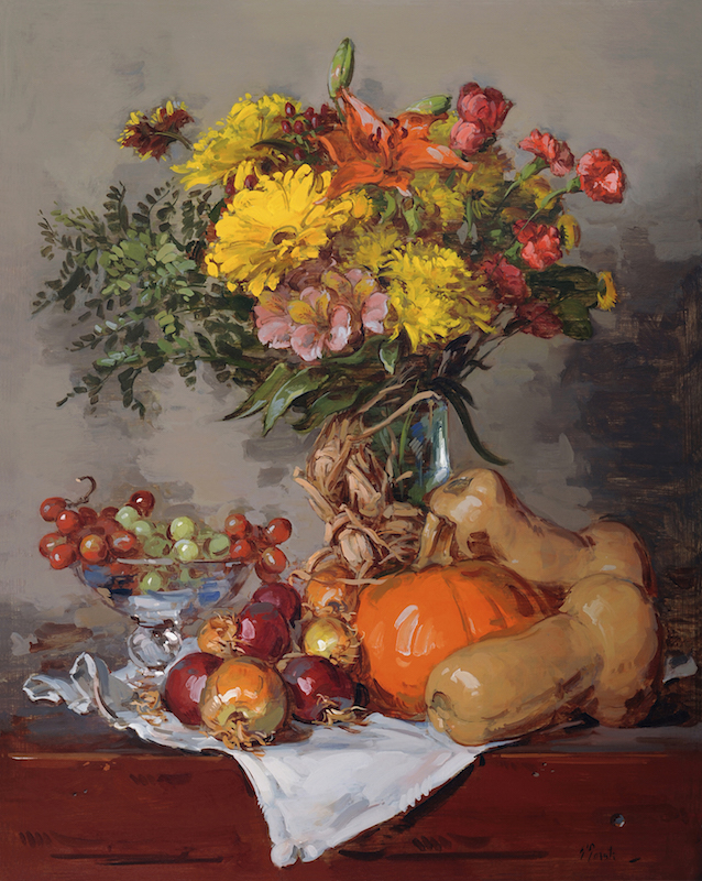 Thomas Torak, Autumn Poem, 2001. Oil on linen, 30 x 24 in.