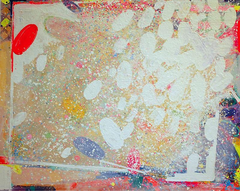 Peter Reginato, Denmark, 2015. Enamel on canvas, 40 x 50 in.