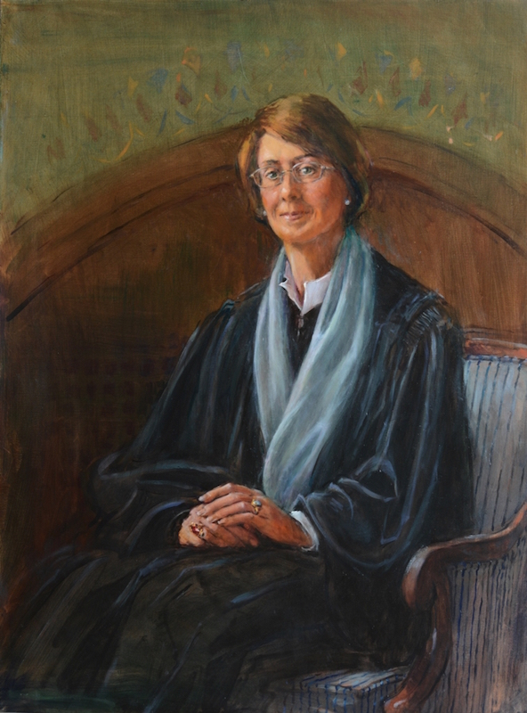 Timothy J. Clark, (The Honorable Sandra L. Lynch, Moakley Federal Courthouse, Boston, 2013–15. Oil, 36 x 42 in.