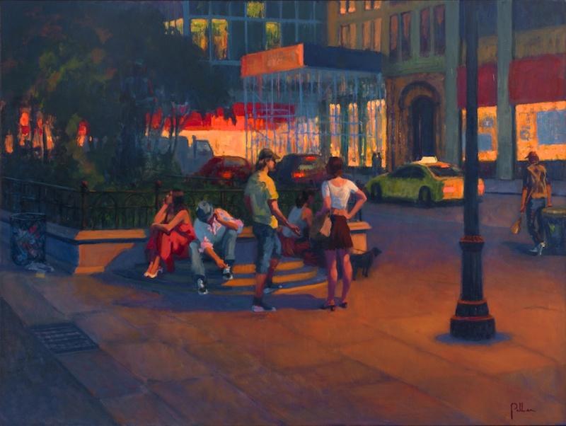 Joseph Peller, Night Shift Union Square, undated.  Oil on linen, 36 x 48 in.