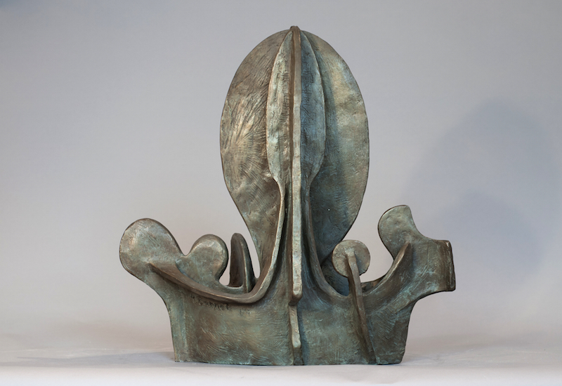 Richard Barnet, Royal Ship, 2008. Bronze, 17 x 17 x 9 in.