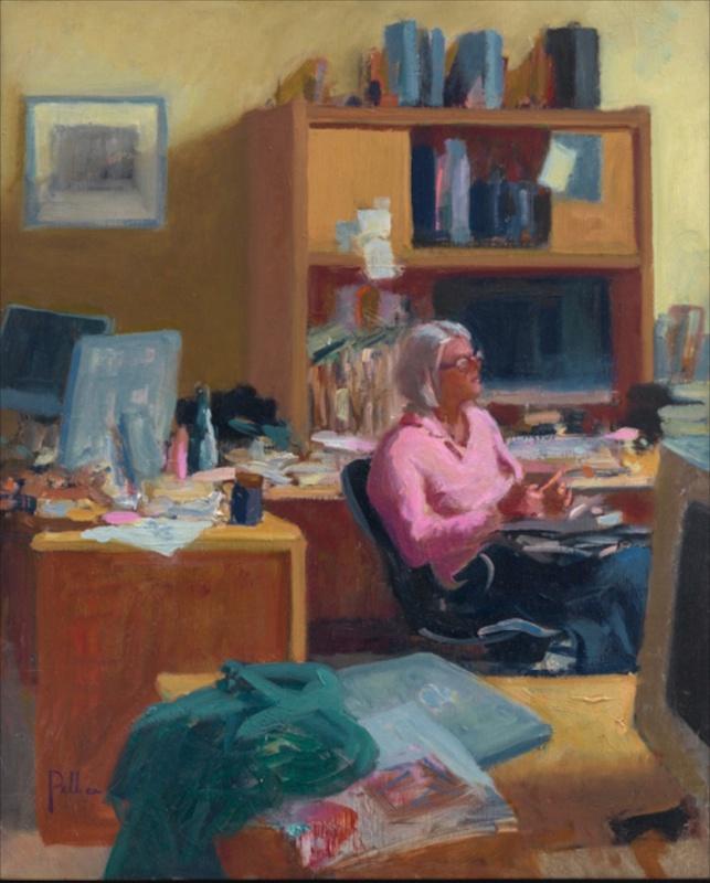 Joseph Peller, Sunday Morning, undated.  Oil on linen, 18 x 14 in.