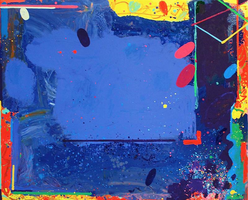 Peter Reginato, A Night in Ocean Park, 2015. Enamel on canvas, 45 x 55 in.