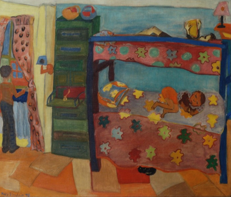 Mary Sinclair, Bunk Beds My Three Sons, 1943. Oil on canavs.