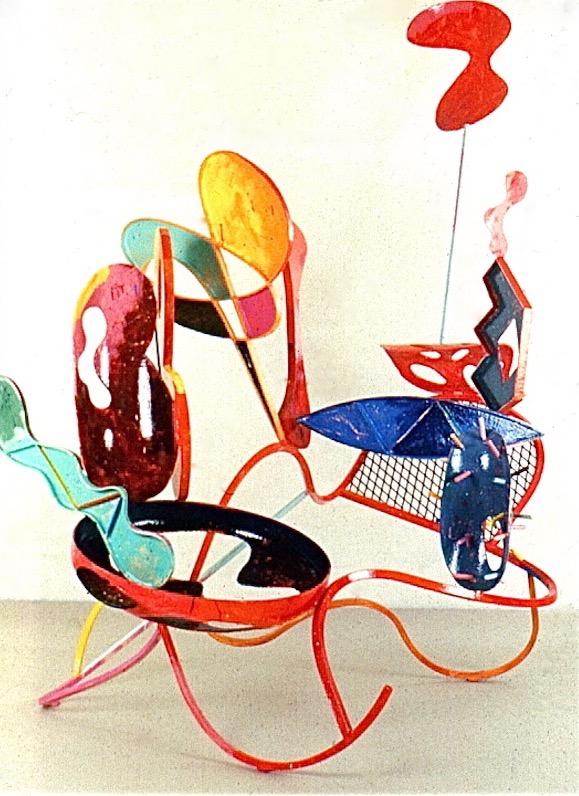 Peter Reginato, Strange Fruit, 1987. Painted steel, 11 x 10 x  7 in.