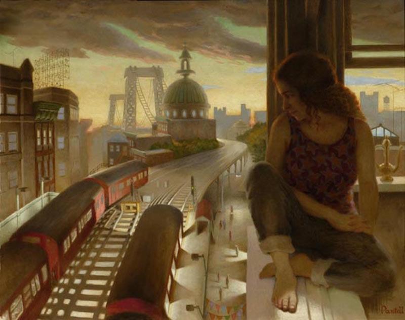 Richard Pantell, Summer Twilight, 1998. Oil on canvas, 40 x 50 in.