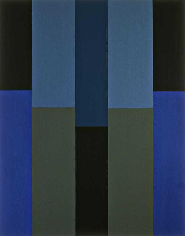 Pat Lipsky, Cobalt, 2007. Oil on linen, 80 × 63 3⁄16 in.