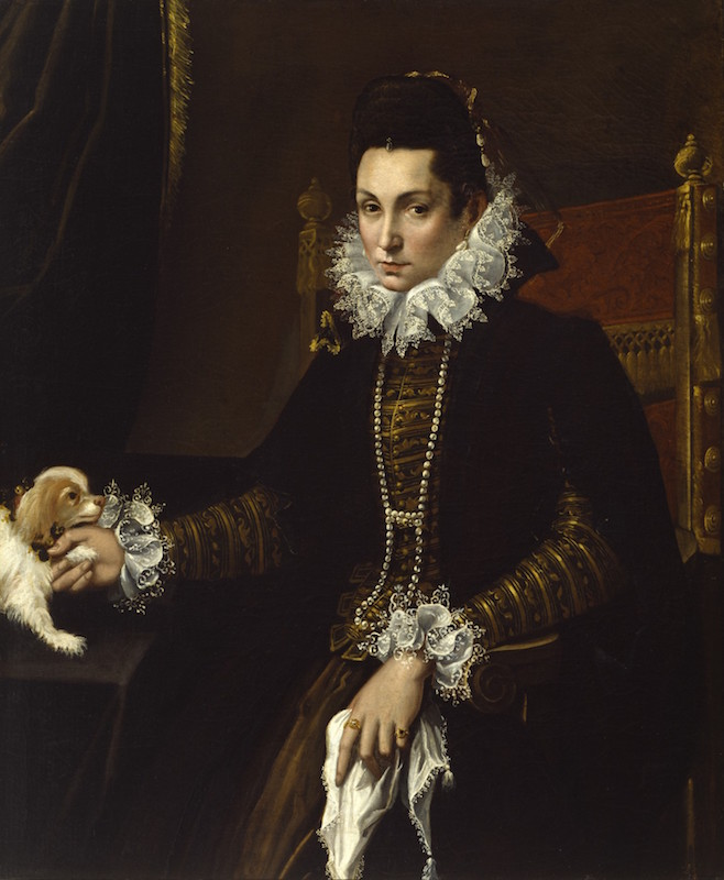 Lavinia Fontana, Portrait of Ginevra Aldrovandi Hercolani, ca. 1595. Oil on canavs, 45¼ x 37⅜ in. The Walters Art Museum.