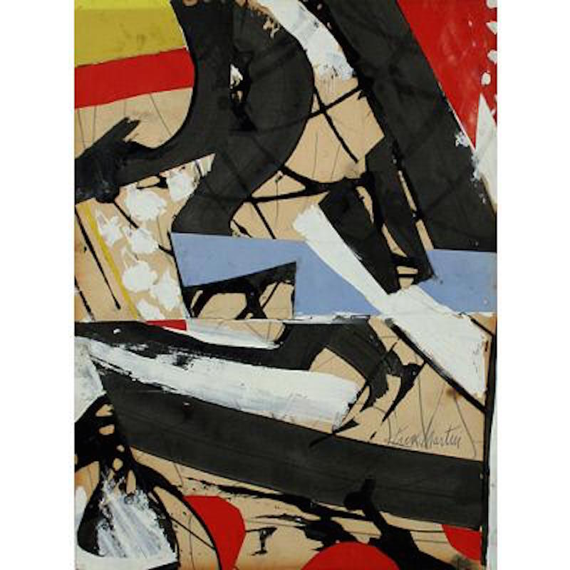 "Knox Martin, Untitled, 1962. Acrylic, enamel, ink, pencil and collage on paper, 12 1/8"" x 9 in. ©Knox Martin/Licensed by VAGA, New York, NY. Gift of Rose Fried Gallery, Collection of the Lowe Art Museum, University of Miami."