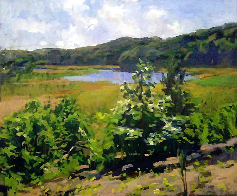 Jerry Weiss, View of the Lieutenant River. Oil on linen, 24 x 36 in.